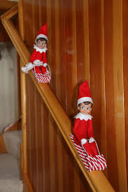 elf on the shelf candy cane sleds insert thin wire in arms and