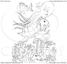 fish outline coloring page royalty free rf clipart illustration of a coloring page outline