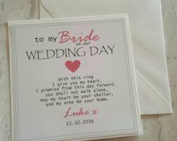 To My Bride Card To My Groom On Our Wedding Day Card Husband To Be Card