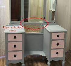 Antique Vanity Mirror The Painted Chest Vintage Vanity And Bed Makeover