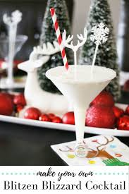 blitzen blizzard holiday cocktail recipe cocktail recipes