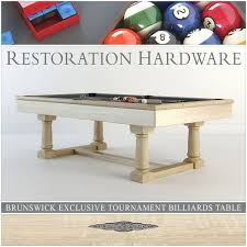 restoration hardware pool table rh brunswick exclusive tournament billiards table 3d model max 3ds