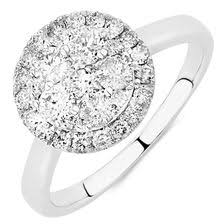 cluster engagement ring cluster engagement rings multistone rings muchael hill jewelers