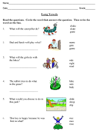 phonics long vowels compound words and contractions worksheet