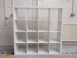 Ikea Kallax Shelving Unit Gloss Ikea Kallax Hi Gloss White 16 Modular Shelving Unit Room Divider
