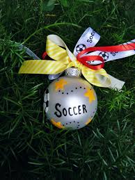 soccer ornaments to personalize personalized soccer ornament soccer by brushstrokeornaments