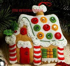 bucilla christmas cookies felt ornament kit 86148 6 piece