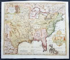 Louisiana Mississippi Map by 1720 Homann Large Old Antique Map Of North America Louisiana