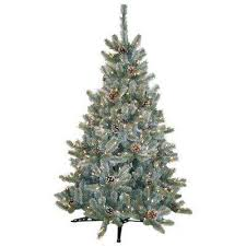prelit artificial tree flocked frosted the home depot