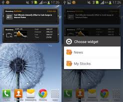 widget android bloomberg for android widget reveiw aw center