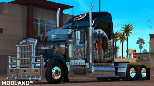 kenworth w900 indian airbrush skin for scs kenworth w900 mod for american