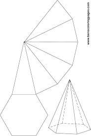best photos of hexagonal pyramid template hexagonal pyramid net
