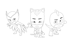 masks coloring sheets owlette pj masks coloring pages black