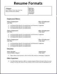 Standard Resume Format Sample by Marvellous Design Types Of Resumes 8 Free Standard Resume