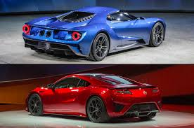 lexus vs acura vs audi supercar face off ford gt vs acura nsx