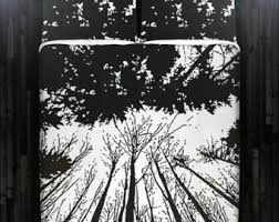 Black And White Tree Comforter View Floral Tree Bedding By Duvetcover On Etsy