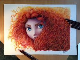 merida color pencil drawing by atomiccircus deviantart com on