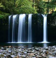 Oregon waterfalls images Oregon waterfalls upper lower butte creek falls jpg