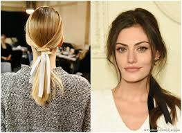 ribbon ponytail from runway to carpet a high fashion ponytail with ribbon