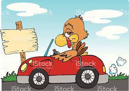 turkey driving a car clipart clipartxtras
