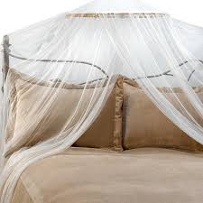 amazon com siam bed canopy and mosquito net in ivory home kitchen