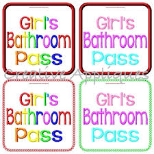 Bathroom Pass Ideas Bathroom Passes Pdf Home Designs Idea