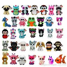 2017 ty beanie boos plush toys simulation animal ty stuffed