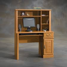 furniture narrow wooden computer desk with hutch cabinet cool