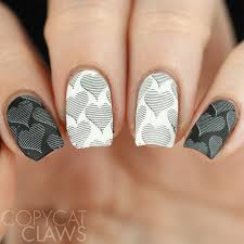 copycat claws 26 great nail art ideas black and white valentine u0027s
