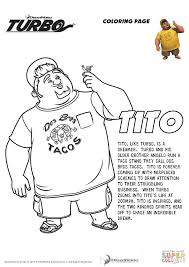 tito turbo coloring free printable coloring pages
