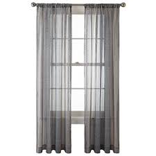 Black Ivory Curtains Sheer Curtains Clearance Jcpenney