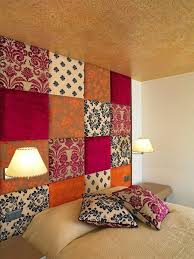 fabric wall decoration for well best fabric wall art images on