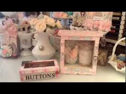 Shabby Chic Craft Room by Shabby Chic Projects For My Craftroom Youtube