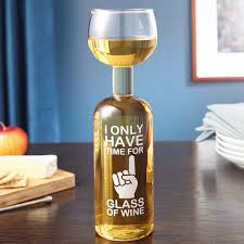 glass of wine one funny wine bottle wine glass