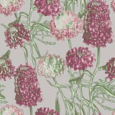 hydrangea self adhesive wallpaper in blush design by tempaper