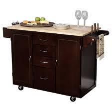 espresso kitchen island buy berkley kitchen island with stainless steel top base finish