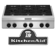 Kitchenaid Induction Cooktop 36 Kitchen Top Kitchenaid Gas Cooktops The Home Depot With Regard To