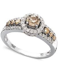 white diamond rings images Le vian chocolate and white diamond ring in 14k white gold 3 4 ct tif
