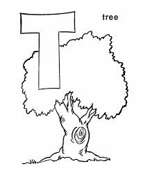 abc alphabet coloring sheets t is for tree honkingdonkey
