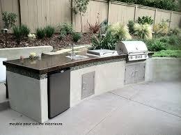 cuisine exterieure beton plan de travail pour cuisine exterieure meuble pour cuisine
