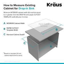 kitchen sink size for 24 inch cabinet kraus granite 24 inch 1 bowl undermount drop in kitchen sink