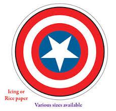 captain america cake topper captain america shield 6 7 or 8inch 1 edible cake topper