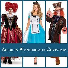 in wonderland character costumes mad hatter march hare white
