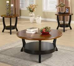 End Table Lamps For Living Room Coaster Occasional Table Sets 3 Piece Contemporary Round Coffee