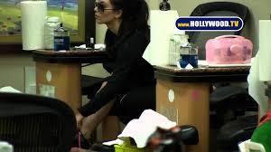 kim kardashian gets nails done at beauty salon youtube