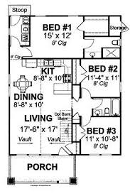 3 Bedroom 2 Bath Open Floor Plans Style House Plans 1200 Square Foot Home 1 Story 3 Bedroom And