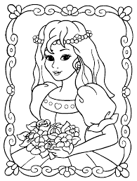 coloring pages of princesses with coloring pages princess