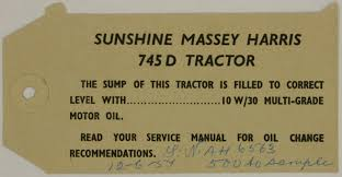 tag h v mckay massey harris u0027sunshine massey harris 745 d