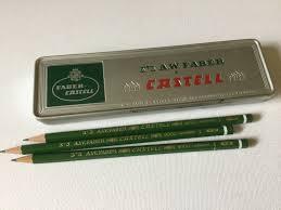 Eldon Desk Accessories by Faber Castell Pencil Case W 3 German Hb Lead Pencils Vintage Tin