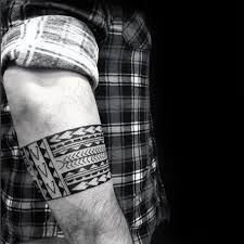 50 forearm band tattoos for masculine design ideas tribal